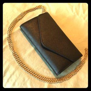 Black Wallet on Chain / Clutch (GHW)